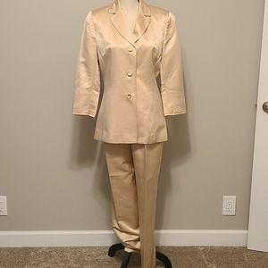 2 piece silk blend suit